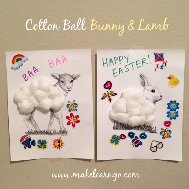 Cotton Ball Bunny & Lamb