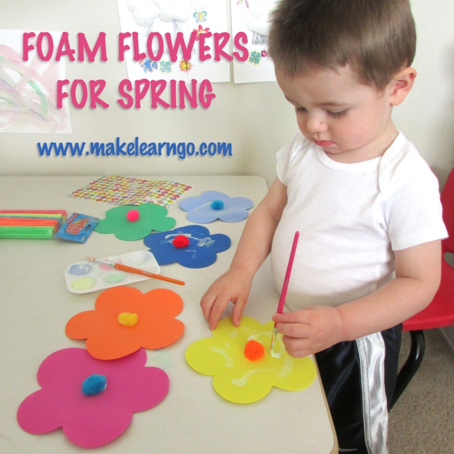 Foam Flowers for Spring