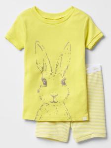 Yellow Bunny PJs girl