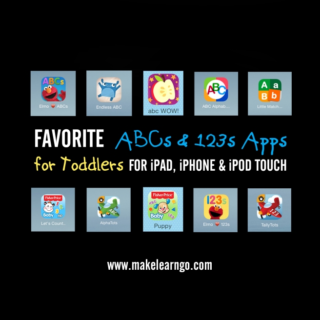 Favorite ABCs & 123s Apps (iPad & iPhone) for Toddlers