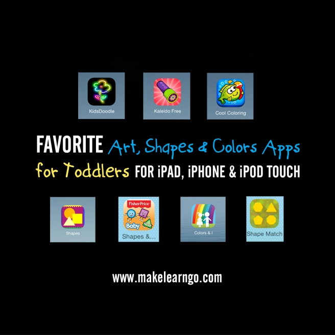 Favorite Art, Shapes & Colors Apps (iPad & iPhone) for Toddlers