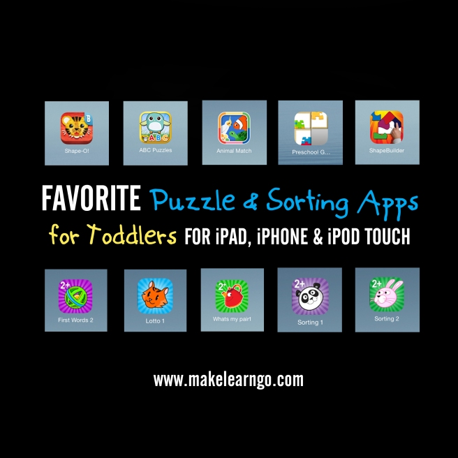Favorite Puzzle & Sorting Apps (iPad & iPhone) for Toddlers