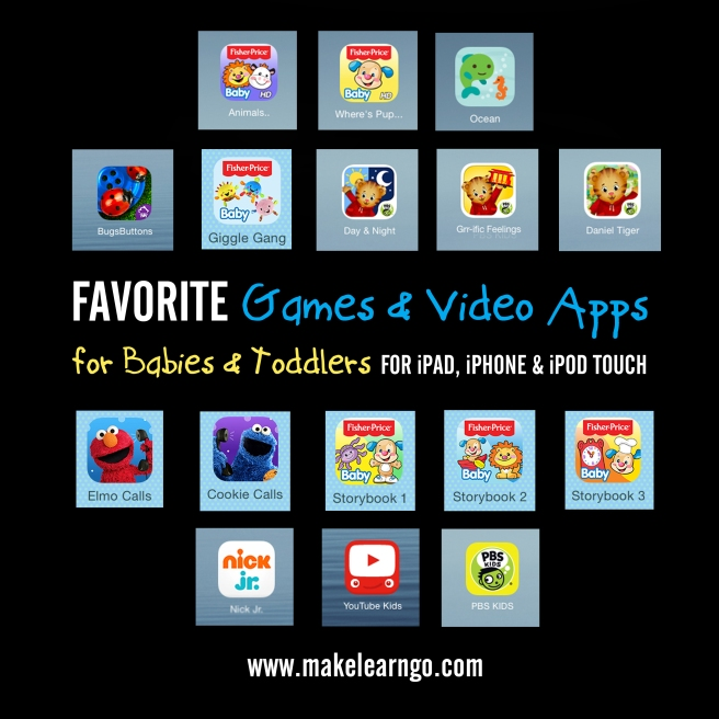 Favorite Games & Video Apps (iPad & iPhone) for Babies & Toddlers
