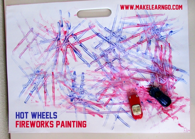 Hot Wheels Fireworks Painting