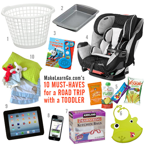 Roadtrip Essentials with numbers - Toddler